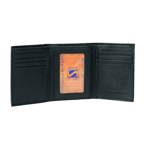 Men's Stone & Company RFID-Blocking Leather Trifold Wallet