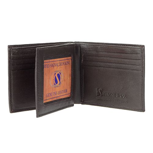Men's Stone & Company RFID-Blocking Leather Wallet