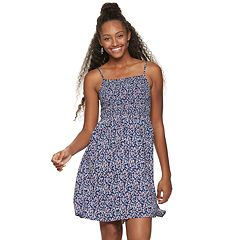 Juniors' SO® Smocked Bodice Dress