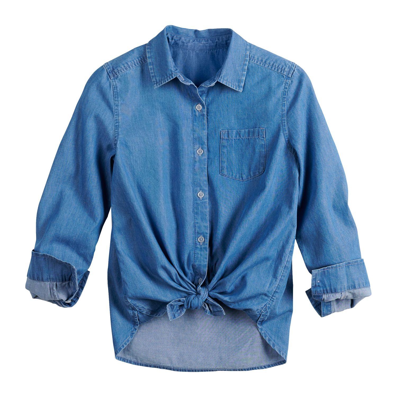 girls long sleeve tops, clothing kohl\u0027s