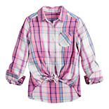 Girls 6-16 & Plus Size SO® One-Pocket Button-Front Shirt