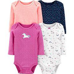 Baby Girl Carter's 4 Pack Unicorn Bodysuits