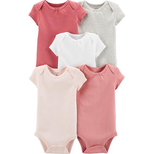 Baby Girl Carters 5-Pack Short-Sleeve Original Bodysuits