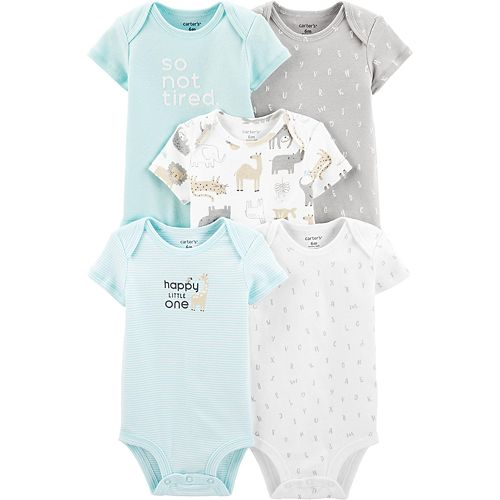 Baby Carters 5-Pack Alphabet Original Bodysuits