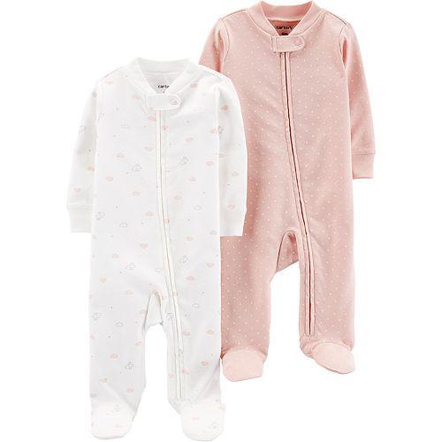 Baby Girl Carter's 2 Pack Zip Sleep & Plays