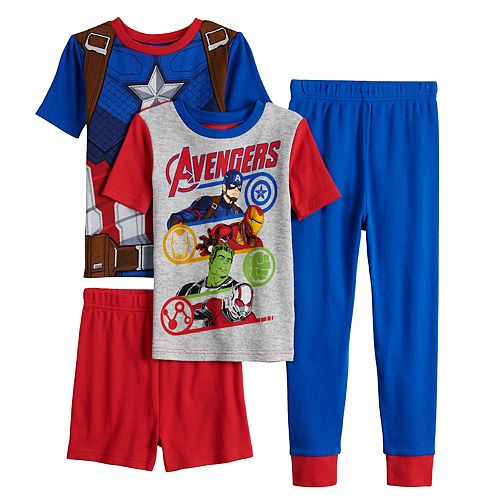 Boys 6-12 Marvel Avengers Infinity Wars 4-Piece Pajama Set