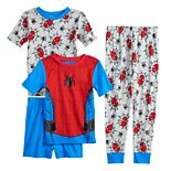 Boys 4-10 Spider-Man 4-Piece Pajama Set