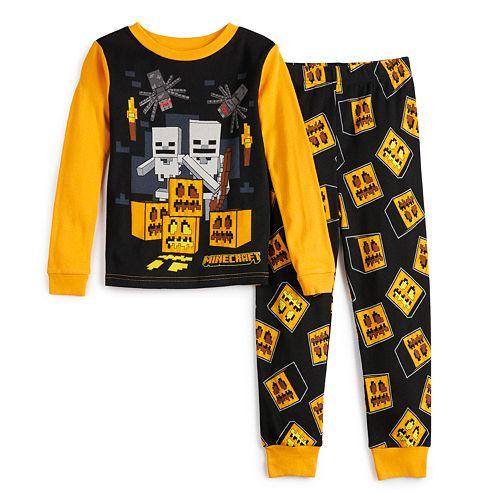 Boys 6-12 Minecraft Halloween 2- Piece Pajama Set