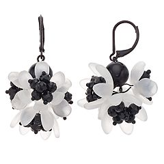 Simply Vera Vera Wang Frosted Flower Leverback Drop Earrings