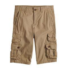 Boys 8-20 Urban Pipeline™ Canvas Messenger Cargo Shorts in Reg & Husky