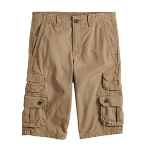 Boys 8-20 Urban Pipeline? Canvas Messenger Cargo Shorts in Reg & Husky