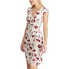 Women's Chaps Pleated Surplice Dress
