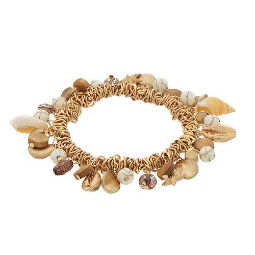 SONOMA Goods for Life™ Shell Beaded Charm Stretch Bracelet