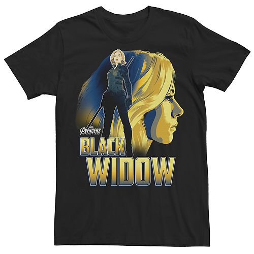 Men's Avengers Black Widow Character Tee