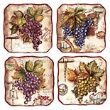 Certified International Vintners Journal 4-pc. Salad Plate Set