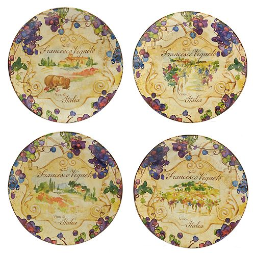 Certified International Vino 4-pc. Salad Plate Set
