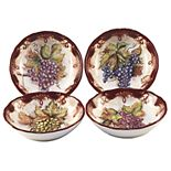 Certified International Vintners Journal 4-pc. Soup/Pasta Bowl Set