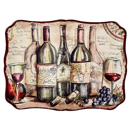 Certified International Vintners Journal Rectangle Platter
