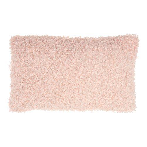 Mina Victory Curly Faux Fur Lumbar Throw Pillow