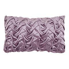Mina Victory Lavender Velvet Pleated Throw Pillow