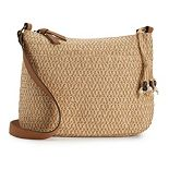 SONOMA Goods for Life? Straw Crossbody Hobo Bag