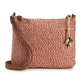 SONOMA Goods for Life? Straw Crossbody Hobo Bag