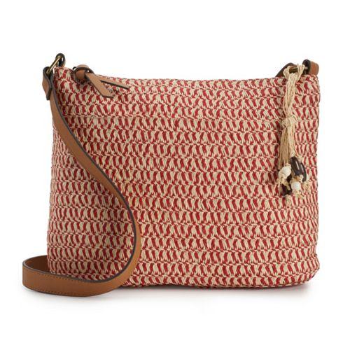 SONOMA Goods for Life™ Straw Crossbody Hobo Bag