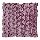 Mina Victory Velvet Pleated Waves Throw Pillow