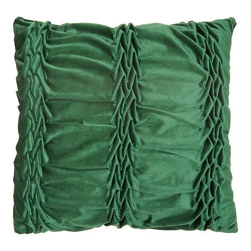Mina Victory Velvet Ruffle Pleats Throw Pillow