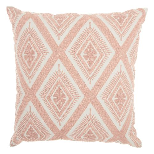 Mina Victory Crochet Diamonds Throw Pillow
