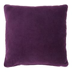 Mina Victory Solid Velvet Throw Pillow