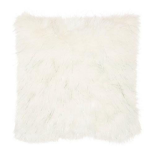 Mina Victory Lurex Remen Faux Fur Throw Pillow