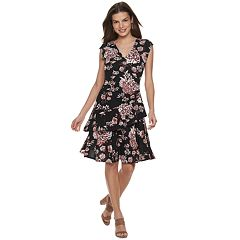 10ad9cae3e Women s ELLE™ Ruffle Faux-Wrap Dress