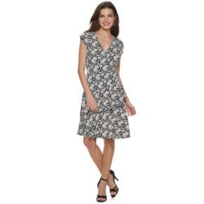 NEW! Women's ELLE? Ruffle Faux-Wrap Dress