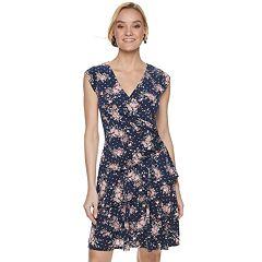 NEW! Women's ELLE™ Ruffle Faux-Wrap Dress