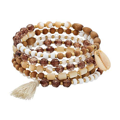 SONOMA Goods for Life™ Shell Beaded Coil Bracelet