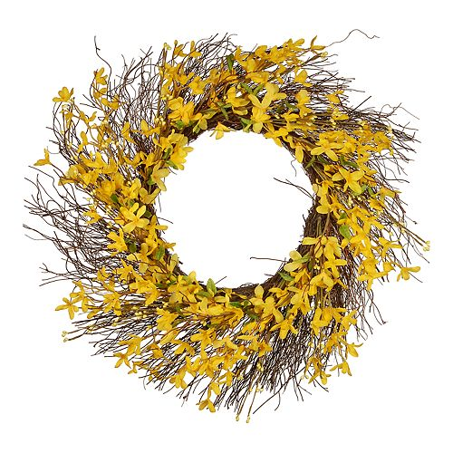 National Tree Company Artificial Floral & Branch Wreath