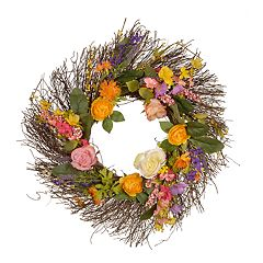 National Tree Company Spring Artificial Wildflower Wreath