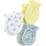 Baby Girl Carters 3-Pack Mittens