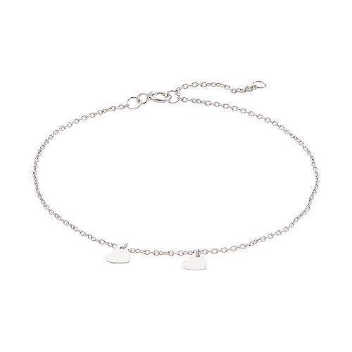 LC Lauren Conrad Sterling Silver Heart Charm Bracelet
