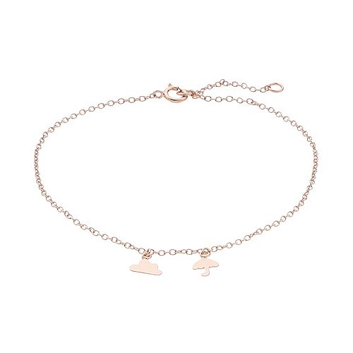 LC Lauren Conrad Rose-Gold Tone Umbrella Charm Bracelet