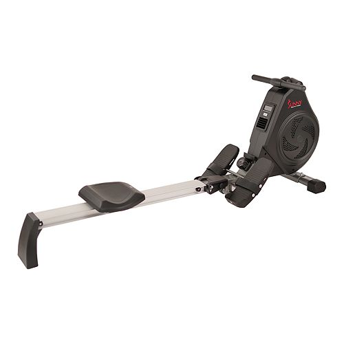 Sunny Health & Fitness Air Magnetic Rowing Machine - Aluminum