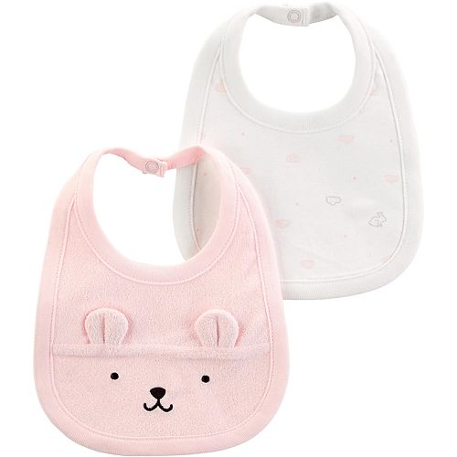 Baby Girl Carters 2-Pack Teething Bibs