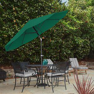 Pure Garden Green Auto Tilt Patio Umbrella