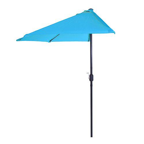 Pure Garden Blue Half Round Patio Umbrella