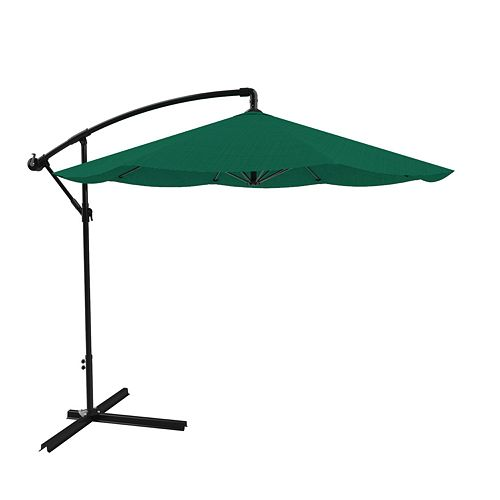 Pure Garden Green Overhanging Patio Umbrella