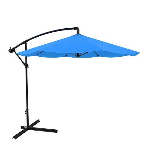 Pure Garden Blue Overhanging Patio Umbrella