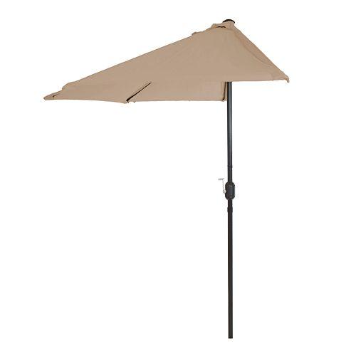 Pure Garden Tan Half Round Patio Umbrella