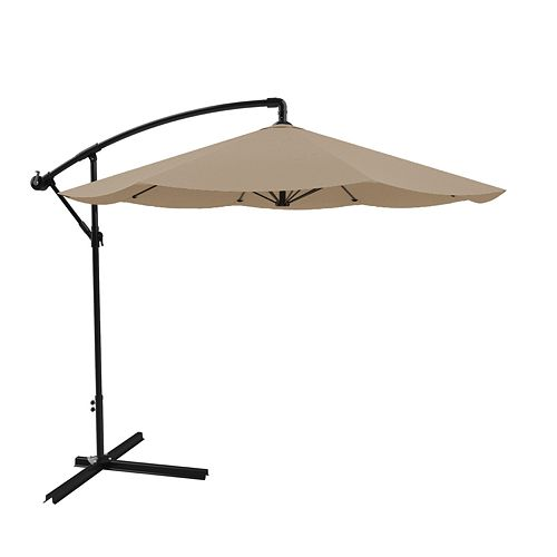 Pure Garden Tan Overhanging Patio Umbrella