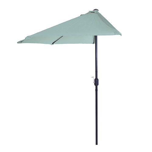 Pure Garden Dusty Green Half Round Patio Umbrella